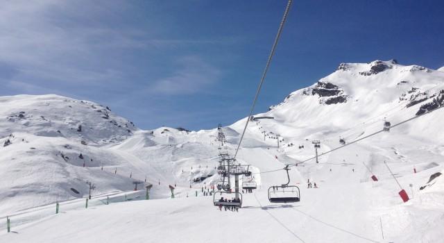 Meribel Ski Area in France